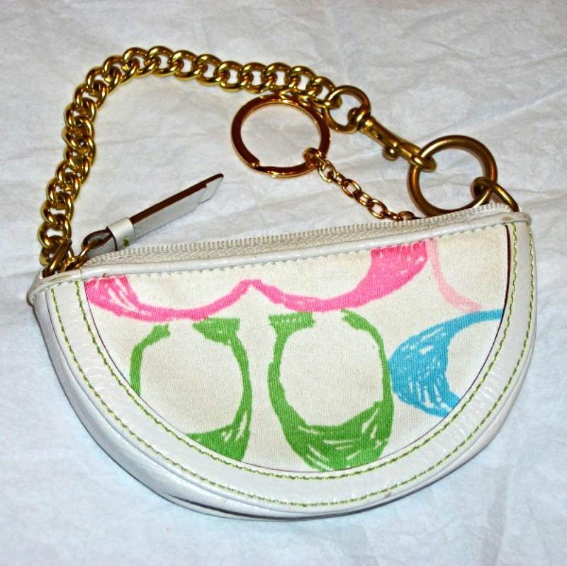 Coach poppy flower wristlet mini handbag and 50 similar items coach poppy flower wristlet mini handbag accessories keychain preowned mightylinksfo