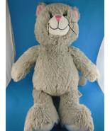 "Build a Bear Grey Cat Kitten Plush Doll 17"" Tall CLEAN - $9.94"