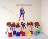 Spiderman - Spider-Man - Party Pack- 1 Wall Decor , 12 Favor Bags and 12 Centerp