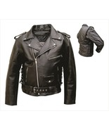 Allstate Leather Mens Motorcycle Jacket in Premium Buffalo Leather AL2011 - $162.00+