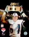 Primary image for Tedy Bruschi Patriots 2004 AFC Trophy 8X10 Color Football Memorabilia Photo