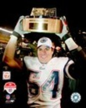 Tedy Bruschi Patriots 2004 AFC Trophy 8X10 Color Football Memorabilia Photo - $4.99