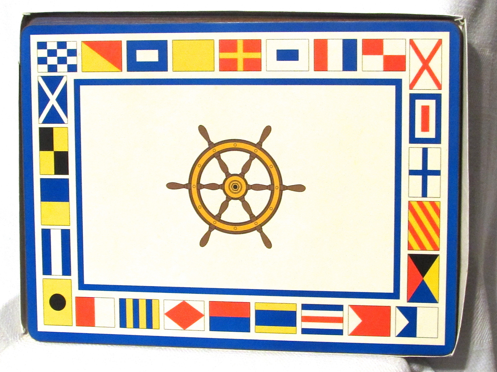 Nautical Corkboard Placemats - Vintage Set of 4