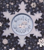 Winter Welcome cross stitch chart Waxing Moon Designs - $9.50