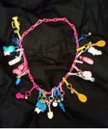 Vintage Retro Original Plastic Bell Clip Charm Necklace Vintage Rare Toy... - $45.00
