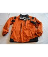 Columbia Youth coat boys 10 12 winter jacket orange black zippered - $29.69