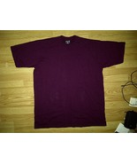Top Tee Baggy Blank Plain Dark Burgundy Maroon Tee T-Shirt 3xl 3xlt TAL... - $4.99