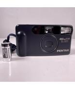 Pentax IQZoom 60R 35mm Blue Point Shoot Camera 35-60mm Lens W/ Battery W... - $37.22