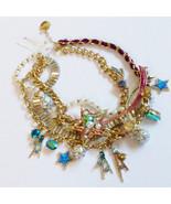 Betsey Johnson Star Statement Multi Cascade Necklace rhinestone enamel NEW - $168.30