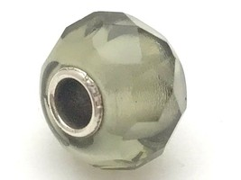 Authentic Trollbeads Faceted Grey Gray Prism Bead Charm 60183, New - $23.75