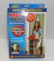 "Magic Mesh Hands-Free Screen Door with Magnets 83"" x 39"" New & Improved TV - $23.75"