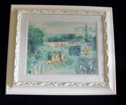 Raoul Dufy Framed Serigraphic Print The Phaeton NY Graphic Society Vintage. - $200.00