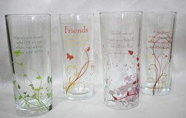 Friends Friendship Drinking Decor Glasses Great Gift Idea Flower Vase Lo... - $16.95