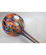Orange / Blue Glass Teardrop Plant Watering Ball - Used - $9.95