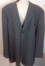 Giorgio Armani Gray Viscose Lined 3 Button Blazer- Men's Size: 44R $795N... - $98.99