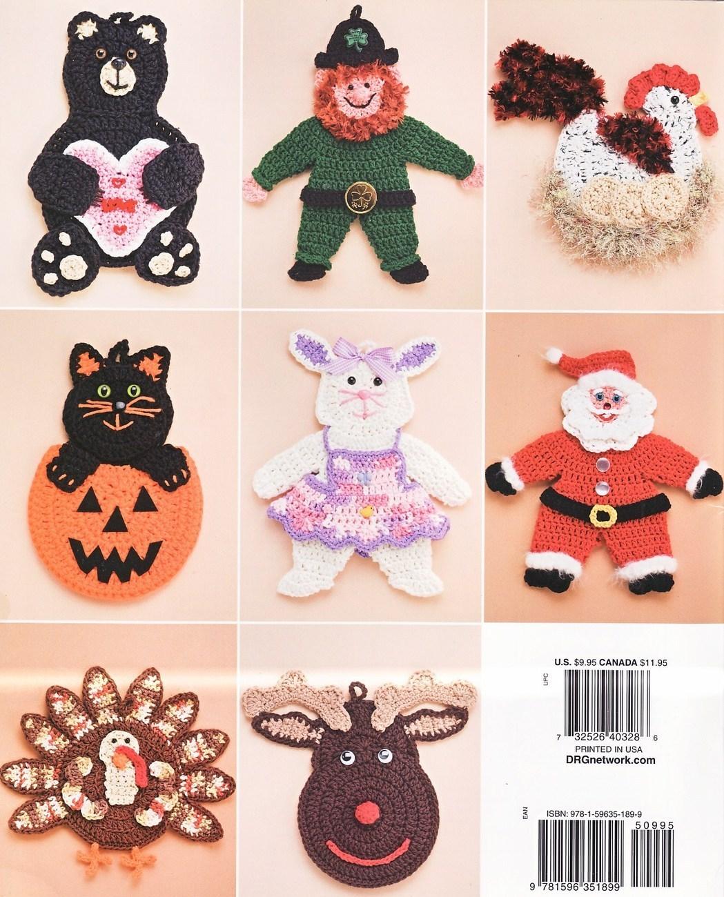 Easter Pot Holders Crochet: Whimsical Pot Holders Crochet Patterns Book Christmas