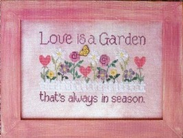 Love Is A Garden cross stitch chart Waxing Moon Designs - $8.00