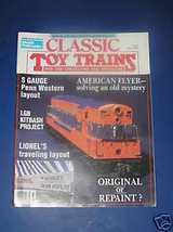 CLASSIC TOY TRAINS MAGAZINE-FALL 1988 - $9.99