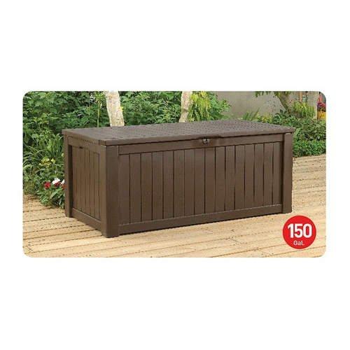 Deck Box Storage Table Bench Locking Outdoor Patio Back Yard Furniture Garden