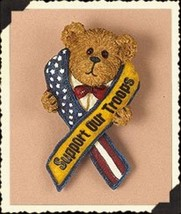 "Boyds Bearwear ""Support Our Troops"" Resin Pin #26186 -New- Retired - $9.99"