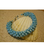 Turquoise Beaded Kumihimo Bracelet, Hand Crafted - $29.00