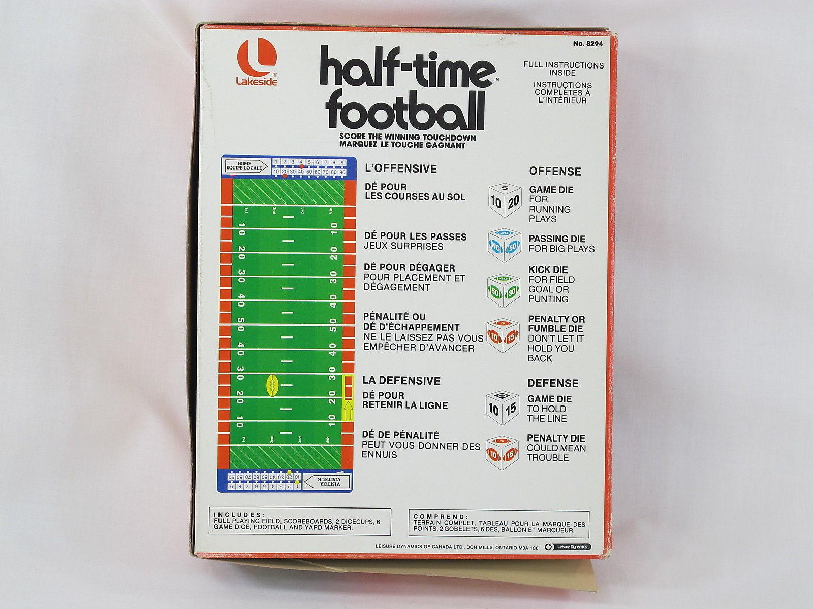 Half Time Football 1979 Board Game Lakeside And 50 Similar Items