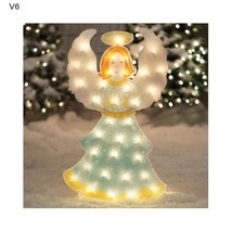 Xmas Pre Lit Angel Decoration Home Office Yard Christmas 35 Lights NEW - $69.03