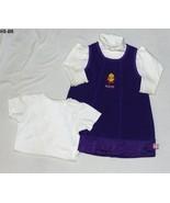SESAME ST.  Purple Jumper  Two GAP White Blouses Size 18-24 Mo. - $9.99