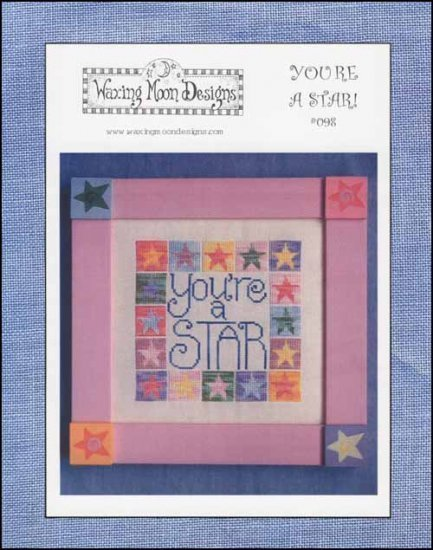 You're A Star cross stitch chart Waxing Moon Designs