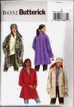 Uncut Size L XL Loose Fitting Jacket Hat Butterick 4352 Pattern Plus - $5.99