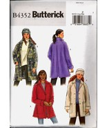 Uncut Size L XL Loose Fitting Jacket Hat Butterick 4352 Pattern Plus - £4.70 GBP