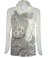 buy online YOGA hoodie Cat Egypt Animal PRINT Pet Summer SURE Hippie Cotton - $22.07