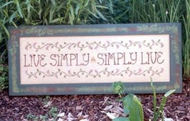 Live Simply Simply Live cross stitch chart Waxing Moon Designs - $9.00