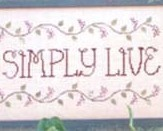Live Simply Simply Live cross stitch chart Waxing Moon Designs