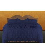LinensnCurtains Waterfall Ruffle NAVY BLUE Bedspread Set 3pc - $169.00+