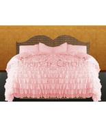 LinensnCurtains Waterfall Ruffle PINK Bedspread Set 3pc - $169.00+