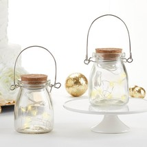 Hanging Clear Jar With Fairy Lights (Set of 4)  - $19.99