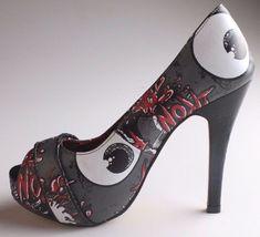 Iron Fist Oh No Charcoal Open Peep Toe High Heels Platform Shoes IFL0072 NIB image 4