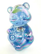 """Fenton Art Glass Hand Painted Iridescent Bear With Flowers 3 1/2"""" Signed... - $59.39"""