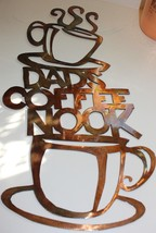 Dad's Coffee Nook  Metal Wall Art Hanging - $34.64