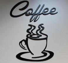Coffe Metal Art Set Satin Black Painted Finish - $21.77
