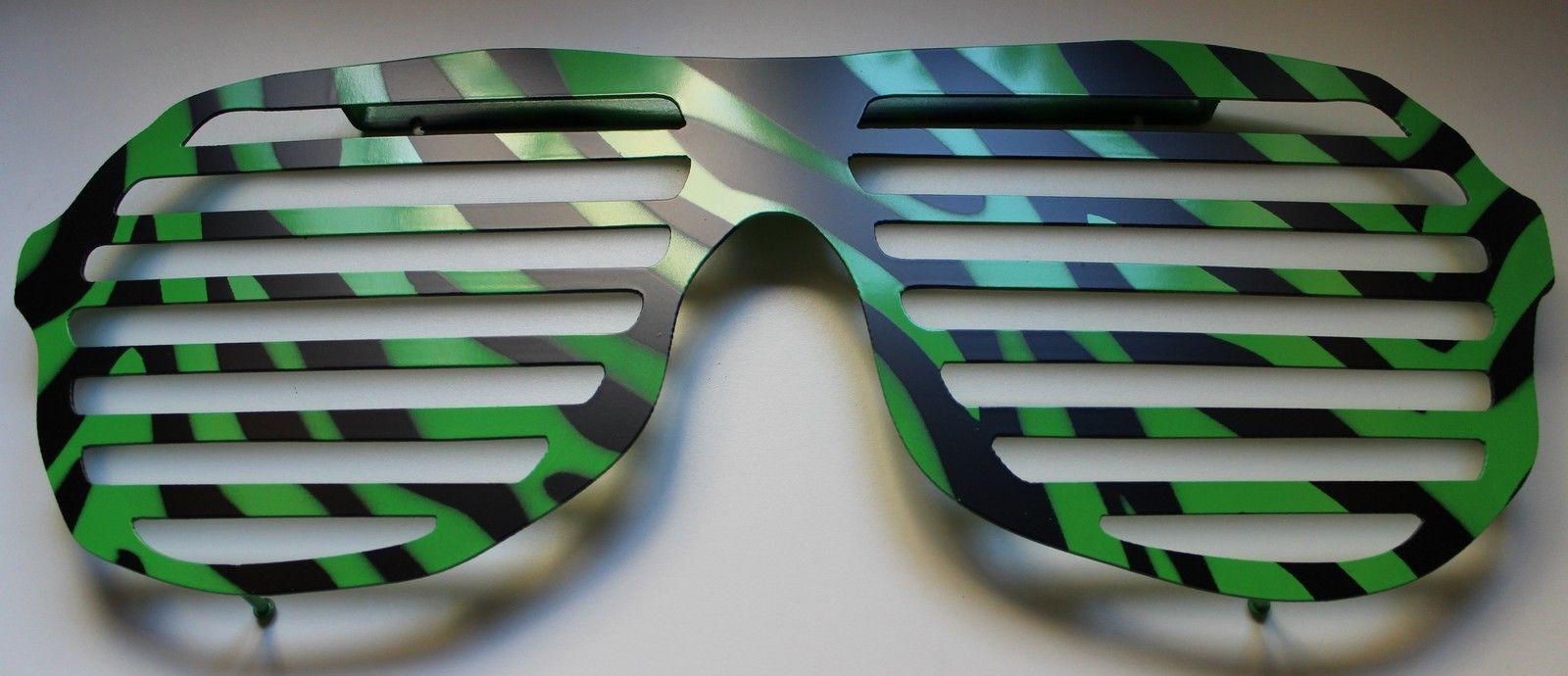 SUNGLASS RACK, Sunglasses to hold your Sunglases!-Green Zebra - $29.99