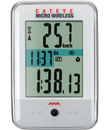 CATEYE MICRO--CC-MC200W WIRELESS WHITE BICYCLE SPEEDOMETER COMPUTER - $59.95