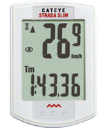 CATEYE STRADA SLIM--CC-RD310W WIRELESS WHITE BICYCLE SPEEDOMETER COMPUTER - $70.00