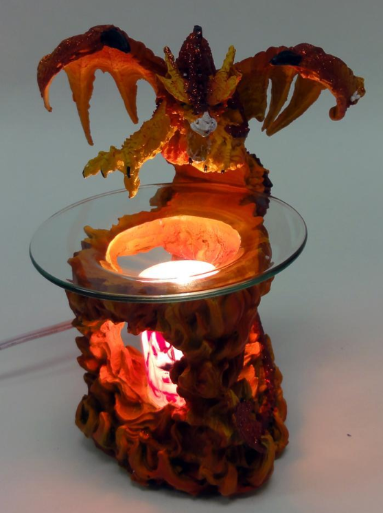 Black dragon with flames electric oil warmer and 50 similar items - Dragon oil warmer ...