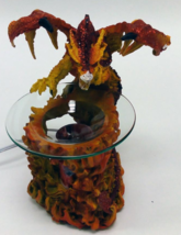 Red Dragon With Flames Polyresin Electric Oil Warmer  - $29.95