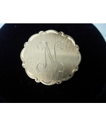 Vintage Initial N Brooch or Pin - Gold Tone Bru... - $5.00