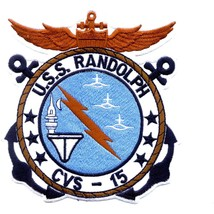 Us Navy Cvs 15 Uss Randolph Patch - $9.95