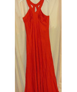 Red  Halter Top Vintage Spandex Knit Gown-size S/M - $34.88
