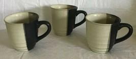 Sango MYSTIQUE 5036 Set Of 3 Coffee Cups Earth Tones Cup EUC Stoneware - $29.69